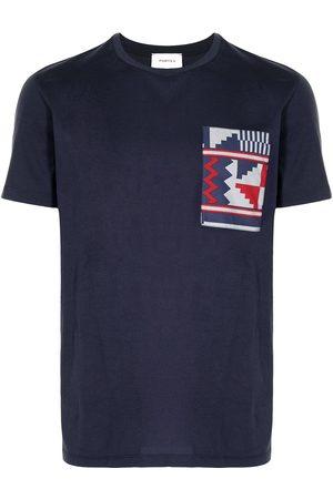 Ports V T-shirt med patchwork