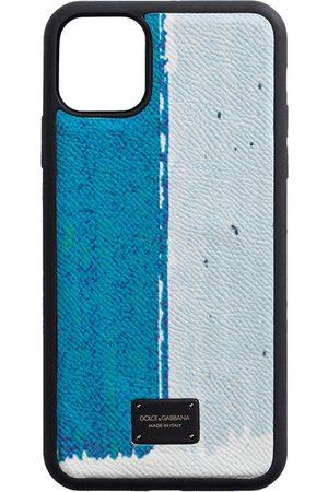 Dolce & Gabbana Mobil-cover med slangeskindseffekt og paneler