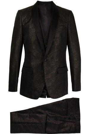 Dolce & Gabbana Tredelt jakkesæt med lamineret effekt