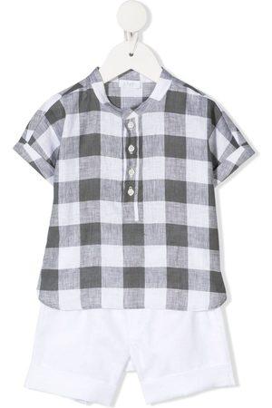 Il gufo Baby Babysæt - Ternet skjorte og shorts-sæt