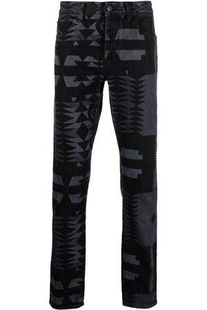 MARCELO BURLON Bootcut-jeans med geometrisk tryk