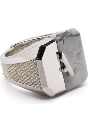 AMBUSH Ring med udskåret sten