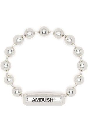 AMBUSH Sølvarmbånd med kuglekæde