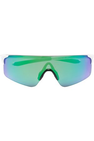 Oakley White and green Evzero Blades sunglasses