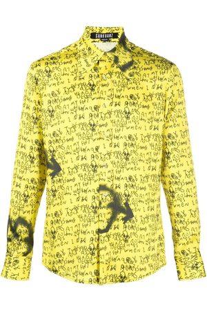 SANKUANZ Langærmet skjorte med grafisk print