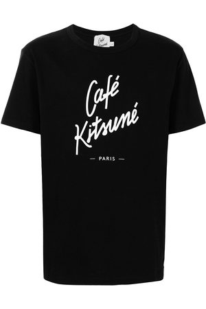 Maison Kitsuné T-shirt med rund hals og logotryk