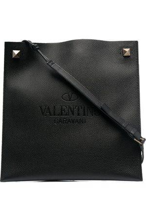 VALENTINO GARAVANI Logo-præget messenger-taske