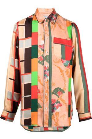 PIERRE-LOUIS MASCIA Skjorte med patchwork-tryk