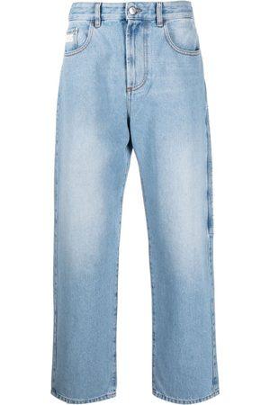 GCDS Jeans med lige ben og logomærke