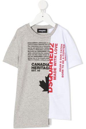 Dsquared2 Tofarvet T-shirt med slogan-tryk