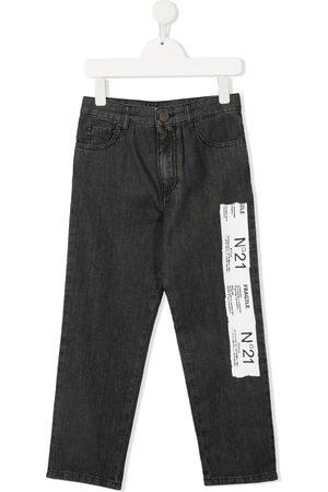 Nº21 Jeans med lige ben og logomærke