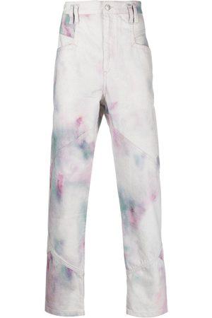 Isabel Marant Jowland jeans med batiktryk
