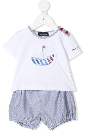 MONNALISA Shorts-sæt med grafisk logotryk
