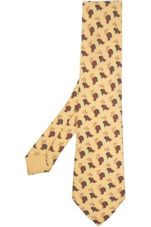Hermès Pre-owned slips med poncho- og hat-print fra 00'erne
