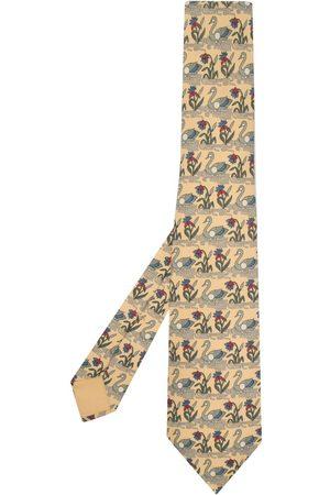 Hermès Pre-owned slips med svanetryk fra 00'erne