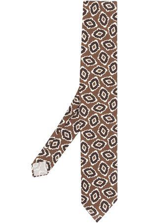 LARDINI Abstract-print pointed tie