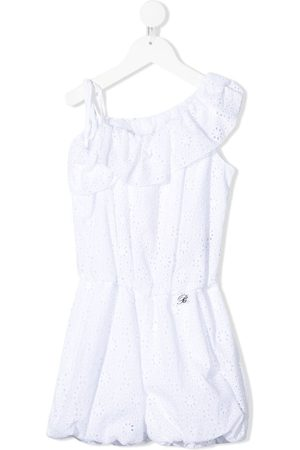 MISS BLUMARINE Playsuit med broderie anglaise