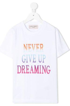 Alberta Ferretti T-shirt med slogantryk
