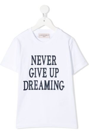 Alberta Ferretti Slogan-print cotton T-shirt