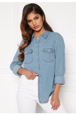 Happy Holly Beatrice denim shirt Light denim 36/38