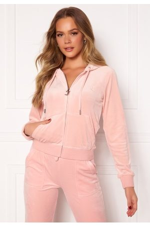 Juicy Couture Robertson Classic Velour Hoodie Pale Pink XS