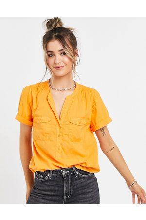 J.Crew J. Crew - Orange skjorte med korte ærmer