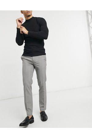 Burton Smalle elegante bukser i brune pepitatern-Grå