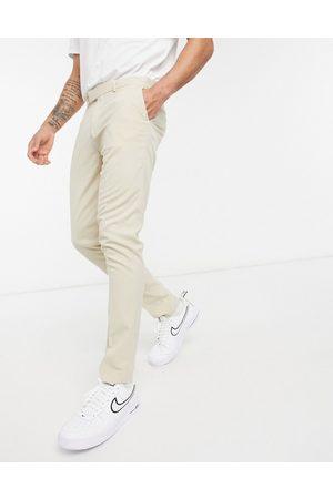 ASOS Stenfarvede elegante bukser med skinny pasform-Stenfarvet