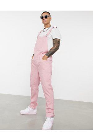 ASOS Denim-overalls i lyserød