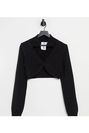 COLLUSION Strikket cropped polotop i