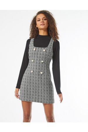 Miss Selfridge Pinafore-kjole i boucle