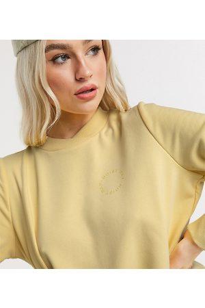 Noisy May Pastelgul sweatshirt med logo