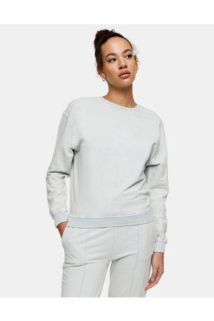 Topshop Sweatshirt i salviegrøn syrevask