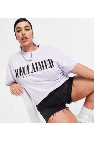 Reclaimed Vintage Inspired - Plus - Syrenfarvet T-shirt med lomme og logo