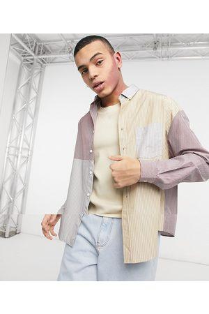 ASOS 90er oversized skjorte med patchwork stribe