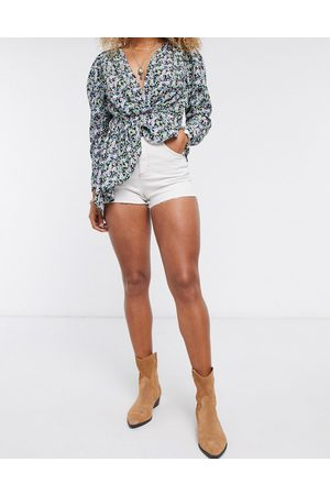 Topshop Mom-shorts i denim