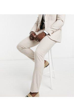 Harry Brown Tall - Wedding - Habitbukser i uldblanding i slim fit-Creme