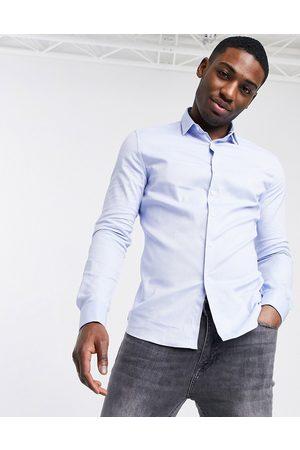 ASOS Kongeblå Oxford-skjorte med dobbeltkanter
