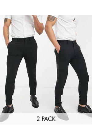 ASOS Multipakke med elegante super skinny-bukser i
