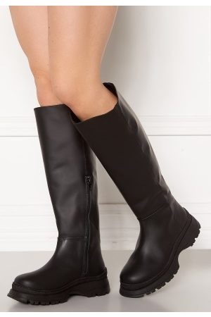 Selected Lucy Leather Boot Black 37