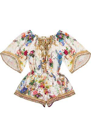 Camilla Piger Playsuits - Floral cotton playsuit