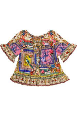 Camilla Kvinder Mønstrede kjoler - Printed cotton and silk dress