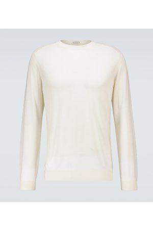 CARUSO Mænd Strik - Wool crewneck sweater