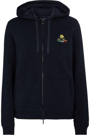 Loro Piana Kvinder Fleecejakker - Horsey cotton fleece hoodie
