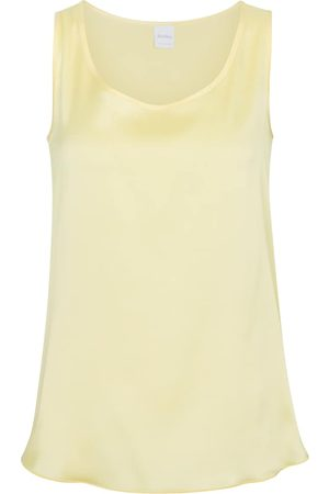 Max Mara Kvinder Tanktoppe - Leisure Pan stretch-silk satin tank top