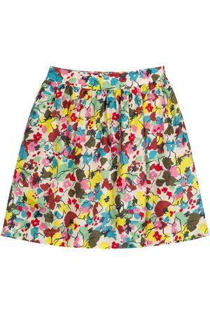 Caramel Piger Nederdele - Flounder floral silk skirt