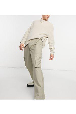 COLLUSION Løstsiddende bukser i twill i 90'er-stil-Neutral