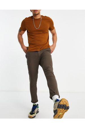 ASOS Super skinny cropped chinos i brun
