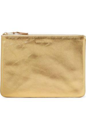 Comme des Garçons Metallic leather wallet