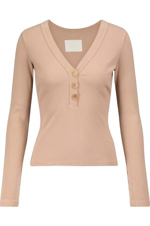 Citizens of Humanity Scarlett stretch cotton-blend top